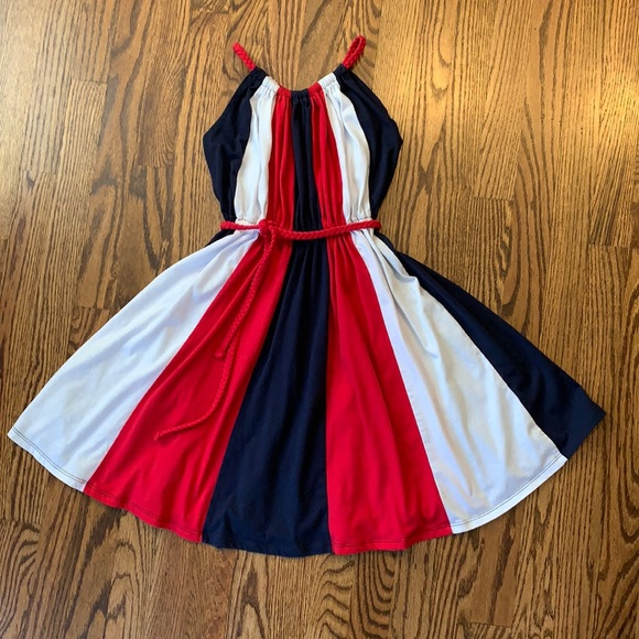 Red, white and blue summer dress